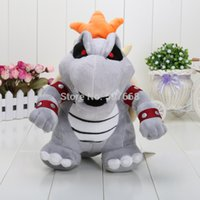 mario land - 23cm Super Mario D Land Bone Kubah dragon Plush Toy Bolster Cartoon plush soft stuffed dolls Dry Bones Bowser Koopa