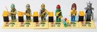 Wholesale 6pcs set Ninja turtles TMNT minifigures block toys Teenage Mutant turtles Building Block Toys ninja block toys