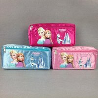 Wholesale 12pcs Frozen Elsa Anna cartoon wallet change pocket Frozen purse pen bag of pencil case students