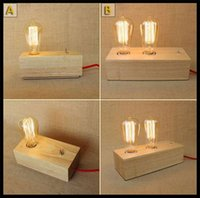 Wholesale AC100 V North Europe Eastern Mediterranean style retro wood bedroom wooden bed desk reading lights decorative table lamp