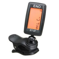 Wholesale Hot Clip on Clip on LCD Display Guitar Tuner Backlight Degree Rotatable Clip Tuner for Guitar Chromatic Bass Violin Ukulele