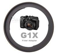 aluminum hood filters - 1pcs Aluminum Camera Lens Filter Adapter FA DC58C For Power Shot G1X to mm UV filter Lens hood