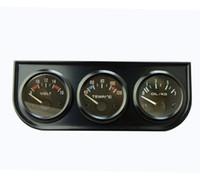 auto gauge kit - 52MM ELECTRICAL TRIPLE IN GAUGE KIT WATER TEMP OIL PRESSURE VOLTS BLACK COLOR AUTO GAUGE