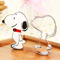Wholesale Cartoon dog stainless steel cookie mold fruit cutter