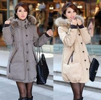 Wholesale cute shirt female thickening medium long down coat Pregnant women s down jacket coat outerwear colors