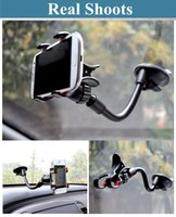 Cheap Wholesale-Sale! Suck Holder Sticky Car Holder Glass Stand Support Rotatable Bracket For Iphone Samsung GPS Mobile Phone Car Holder ZJ57