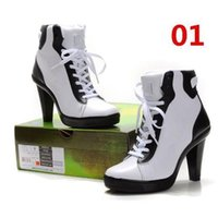 Wholesale New Arrival Classics High Heels Ankle Boot Sport High Heels Mixed Color Black and White Women Basketball Shoes Correcting Motile Shoes