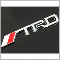 Wholesale 2 X ABS TRD Car Sticker Hood Front Grill Badge Logo Emblem for Car SUPRA PRIUS VOIS COROLLA MK5 order lt no track