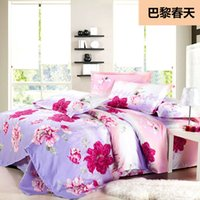Wholesale Flowers Home Textiles fashion Bedding sets cheap Bedclothes Bedlinens luxury Bedcover set bedsheet Bedspread sets top quality drop ship