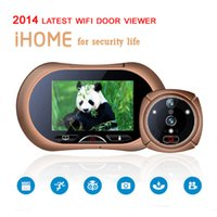 Wholesale New arrival Wifi quot HD130 Degree Video Doorphone TFT color display GSM door Viewer Peephole Camera Night Vision alarm Door bell