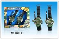 Wholesale New children TWO WAY RADIO WALKIE TALKIE KIDS CHILD SPY WRIST WATCH WRISTLINX GADGET TOY WALKY TALKY by DHL