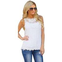 Cheap JECKSION Women Summer Blouse 2016 Cotton Lace Blouse Sleeveless Casual Tank Tops For Girl Plus Size blusa de renda feminino
