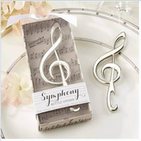 Wholesale New Arrival Unique Wedding Favors quot Symphony quot Chrome Music Note Bottle Opener wedding gift Party gift