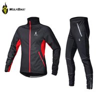 spandex clothing - 2015 cycling clothes Fleece Thermal Winter Wind Cycling Jacket Windproof Bike Bicycle Coat Clothing Casual Long Sleeve Jersey Pants Set