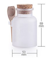 bath salts - BY DHL g bath salt round shape ABS Bottle Jars with cork spoon g Bath Salt Powder Bottle Dressing ABS