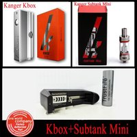 bay delivery - Kanger Electronic Cigarette Kanger Kbox W and Kanger Subtank Mini ML With Battery And One Bay Charger Fast Delivery Free DHL