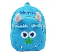 Wholesale 2015 New baby Boys lovely cartoon character School bags children Monster design Mini backpack kids D