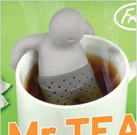 Wholesale 2015 hot Teapot cute Mr Tea fred Infuser Tea Strainer Coffee Tea Sets silicone fred Mr tea Z468