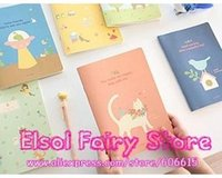 Wholesale Cute Animals Design A6 size NoteBook Lovely Diary Book designs