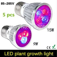 Wholesale E27 GU10 E14 W W Led Grow Light Lamp For Flower Plant and Hydroponics System AC85 V with CE ROHS