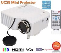 Wholesale Brand New UC28 UC28 LUX PRO HDMI Portable Projector VGA AV SD USB Slot Remote Control