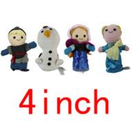 Wholesale Toys for Chirstmas stock Frozen Elsa Anna Olaf Kristoff kids Finger Puppets Doll Figures frozen action figures set