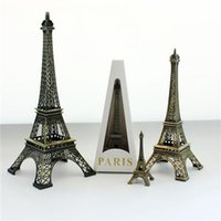 craft materials - Bronze Eiffel Tower Figurine Arts and Crafts European Romantic Arts and Crafts Alloy Material New Arrivals Hot Sale T cm