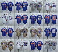 achat en gros de maillot authentique 56-Mets de New York 32 Steven Matz 34 Noah Syndergaard 2015 Baseball Jersey Cheap Rugby chandails authentiques livraison gratuite cousu Taille 48-56