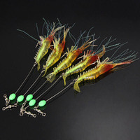 Wholesale Hot sale mm Soft Luminous Simulation Prawn Shrimp Fishing Floating Shaped Lure Hook Bait