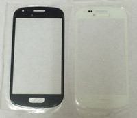 Cheap 10 pcs lot HQ Copy Blue White color for Samsung Galaxy S3 mini GT-I8190 Outer Front Glass Lens Free shipping