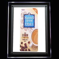 led box sign - LED Light Box with Acrylic Sign with Hanging Ceiling Board and LED Crystal Acrylic Frame Light Box for Advertising Display