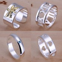 Wholesale Factory Promotion Fashion Jewelry Sterling Silver Wedding Rings For Women Irregular Shapes Multi Styles