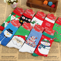 big legged woman - free ups ship Adult Christmas Knit Knee High Socks Men Santa Socks Women Deer Socks Big Children Cotton Socks style choose freely
