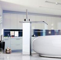 bath real estate - 92338G Construction Real Estate Polished Chrome Faucet Bath Basin Single Lever Bathroom Wash Basin Mixer Tap Waterfall Faucet