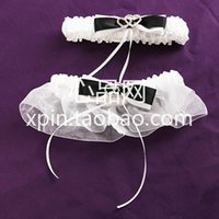 Wholesale LM Retail Special Wedding Party Stuff Supplies Accessory Black Shining Hearts Bridal Garters with Bow for Wedding