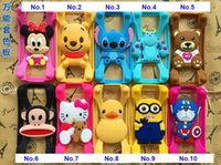 Wholesale Universal Silicone Bumper Frame Cartoon Character Case Lovely Animals Bumpers for iPhone s Samsung s6 Note5 HTC LG Sony Nokia