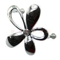 Wholesale Flower Crystal Glass Door Knob Drawer Cabinet Kitchen Wardrobe Handle
