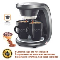 automatic american machine - High Quality Cups Black Color Coffee Machine Without Ceramic Cup American or Nescafe Drip Coffee Maker Machine