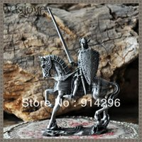 Wholesale Classical European medieval Templar soldiers Knight GROUP Lion Heart classic ornaments Men s Gift Tin Soldier