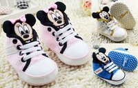 Wholesale Mickey cartoon lace cotton casual toddler shoes CM CM CM children sneakers Indoor Garden Baby Shoes pair CL