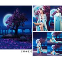 baby moonlight - vinyl photo backdrop babies Moonlight Promenade blooms background x7ft x220cm