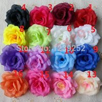 Wholesale Can Mix Color NEW Artificial Rose Silk Flower Heads Decoration for Wedding Party Banquet Decorative Flowers