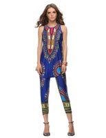 african leggings - Women Top Sleeveless Traditional African Fashion Dresses And Women Traditional African Fashion Leggings Summer Dashiki Sets