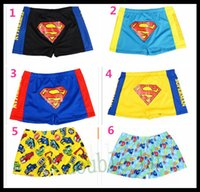 Cheap 6 colors 2015 Outdoor Swimming Boys Swimming Trunks New Fashion Superman Style Children Swimwear Kids Beach Underwear Free Shipping L049