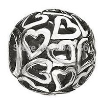 Silver beads retail - New and retail New Heart Sterling Silver Beads for European Charms Bracelets Snake Chain Jewelry