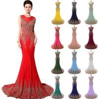 Model Pictures Trumpet/Mermaid Jewel Real Image Sheer Neck Formal Evening Prom Dresses Embroidery Stretchy Red Royal Navy Blue Blush Green Occasion Gowns Arabic 2015 Plus Size