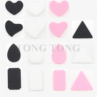 Wholesale Colorful Felt Pads for Essential Oil Diffusing Perfume Locket Pendant Floating Locket fit for locket in our store only