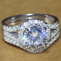 man made diamond - Luxury quality CPP Brand NSCD man made diamond wedding ring set for women bridal set engagement ring set