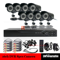 Wholesale DIY CH H Home Security Video Surveillance System DVR Kit TVL IR Cut Outdoor Waterproof Camera VGA HDMI