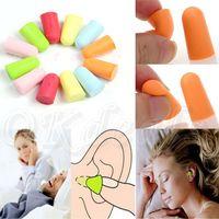 Wholesale 1 Pair Soft Foam Earplug Ear Plug Keeper Protector Travel Sleep Noise Reducer Random Color